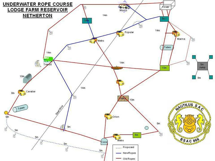 netherton reservoir rope course map diving resources